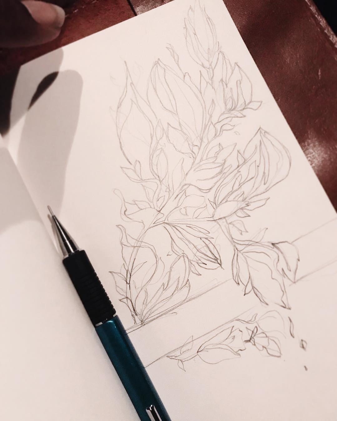[ Floral Doodle 3 // 2018 // Pencil ]