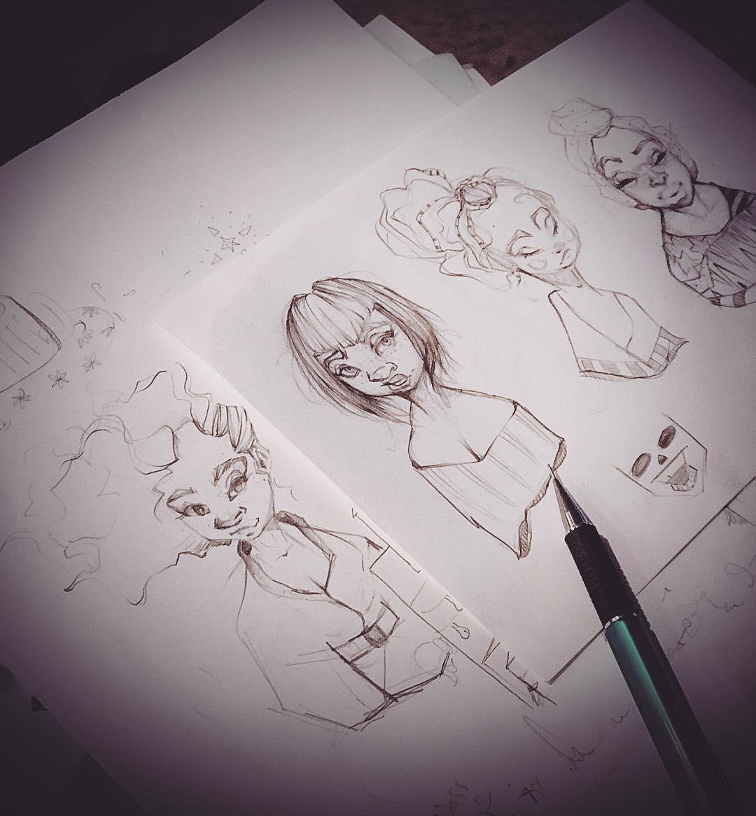 [ Four Girls // 2018 // Pencil ]