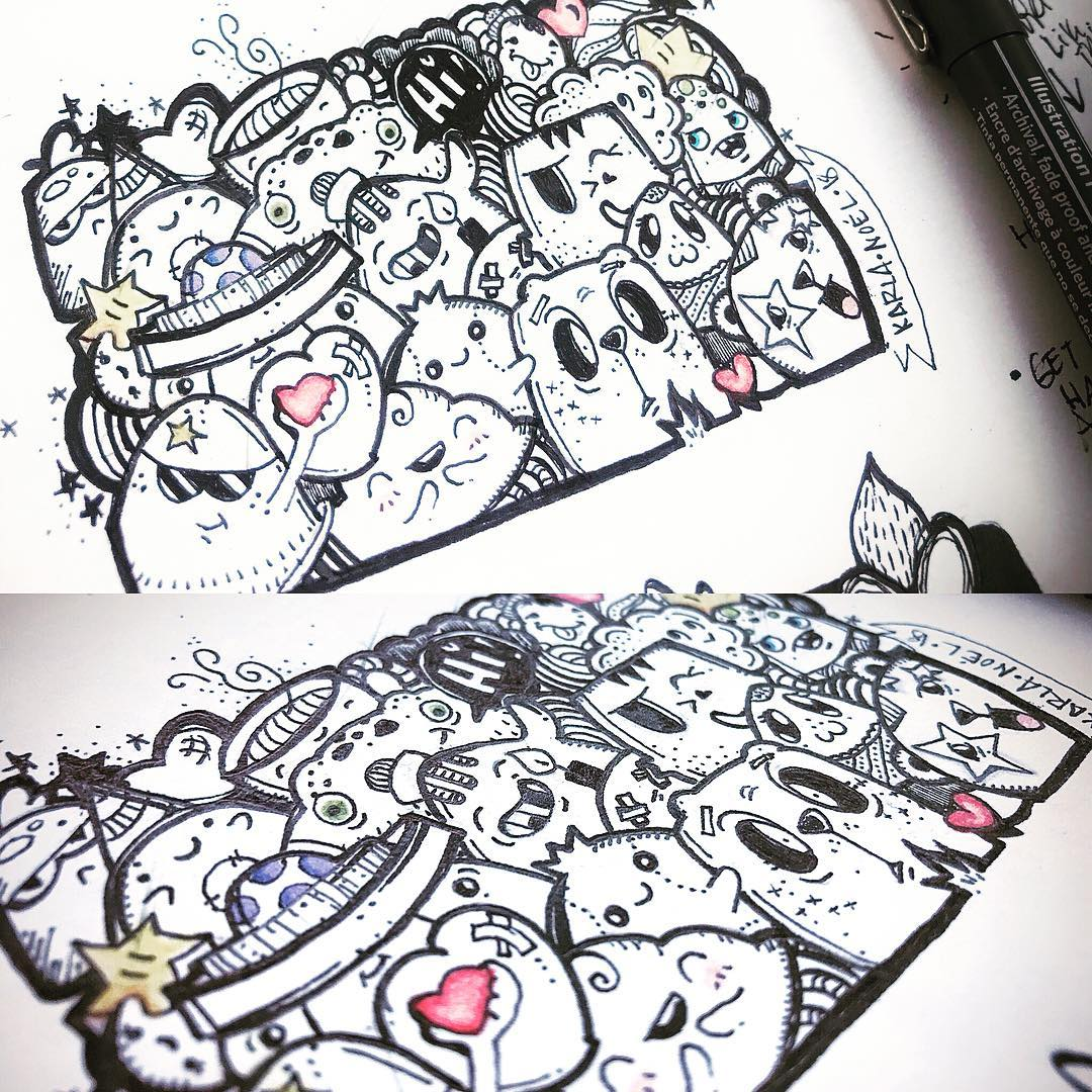 [ Happiness Doodle 2 // 2018 // Ink ]