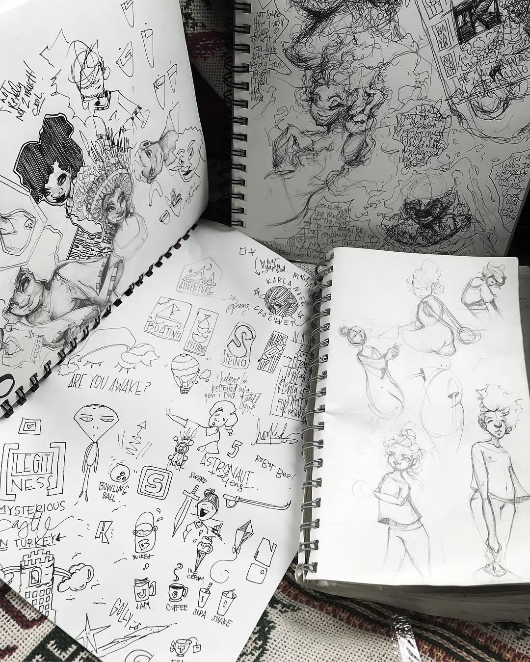 [ Inside The Sketchbook 1 // 2018 / Pencil & Ink ]