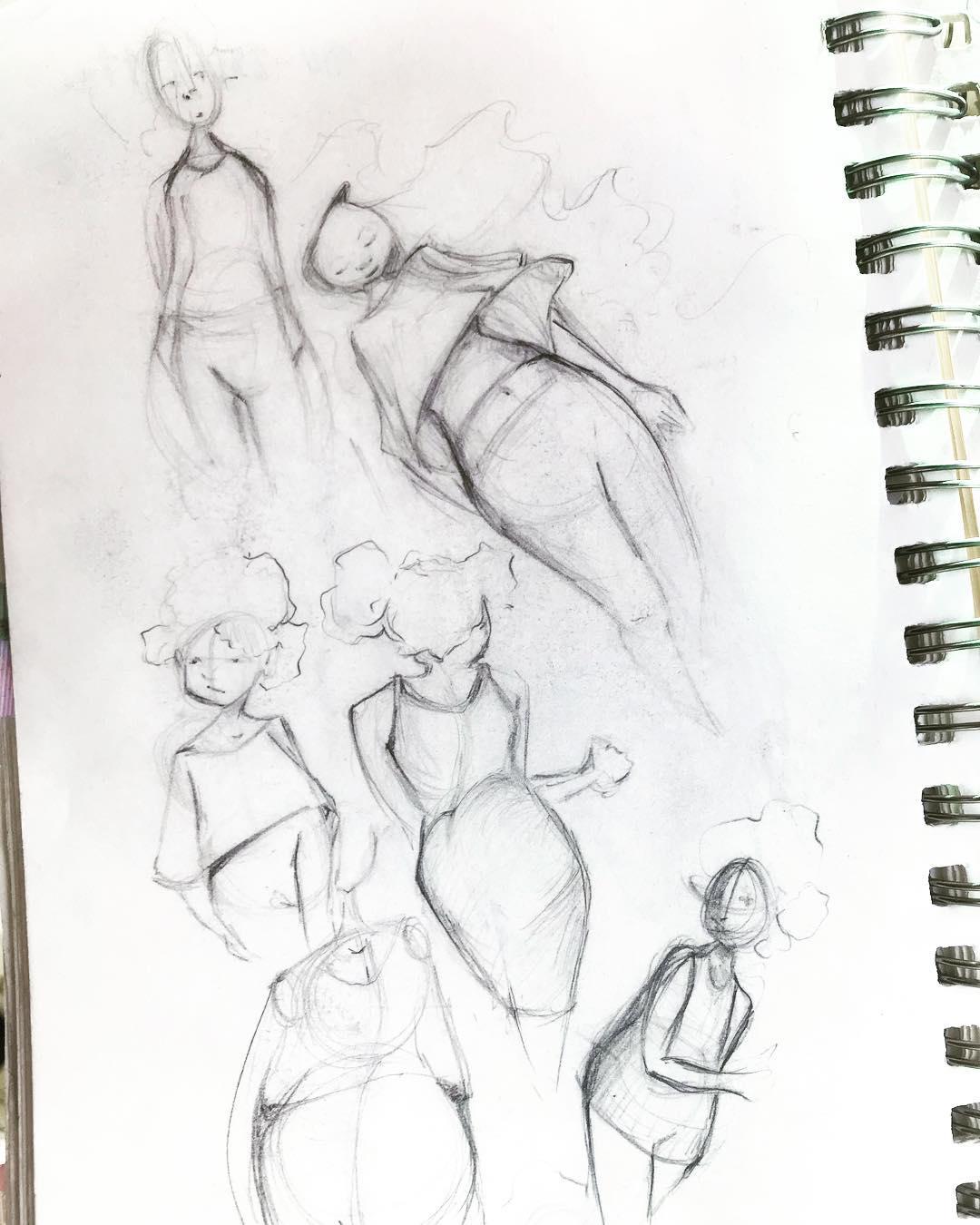 [ Inside the Sketchbook 2 // 2018 // Penicl ]Just flipping through pages ⭐️ #karlanoelart #insidethesketchbook .