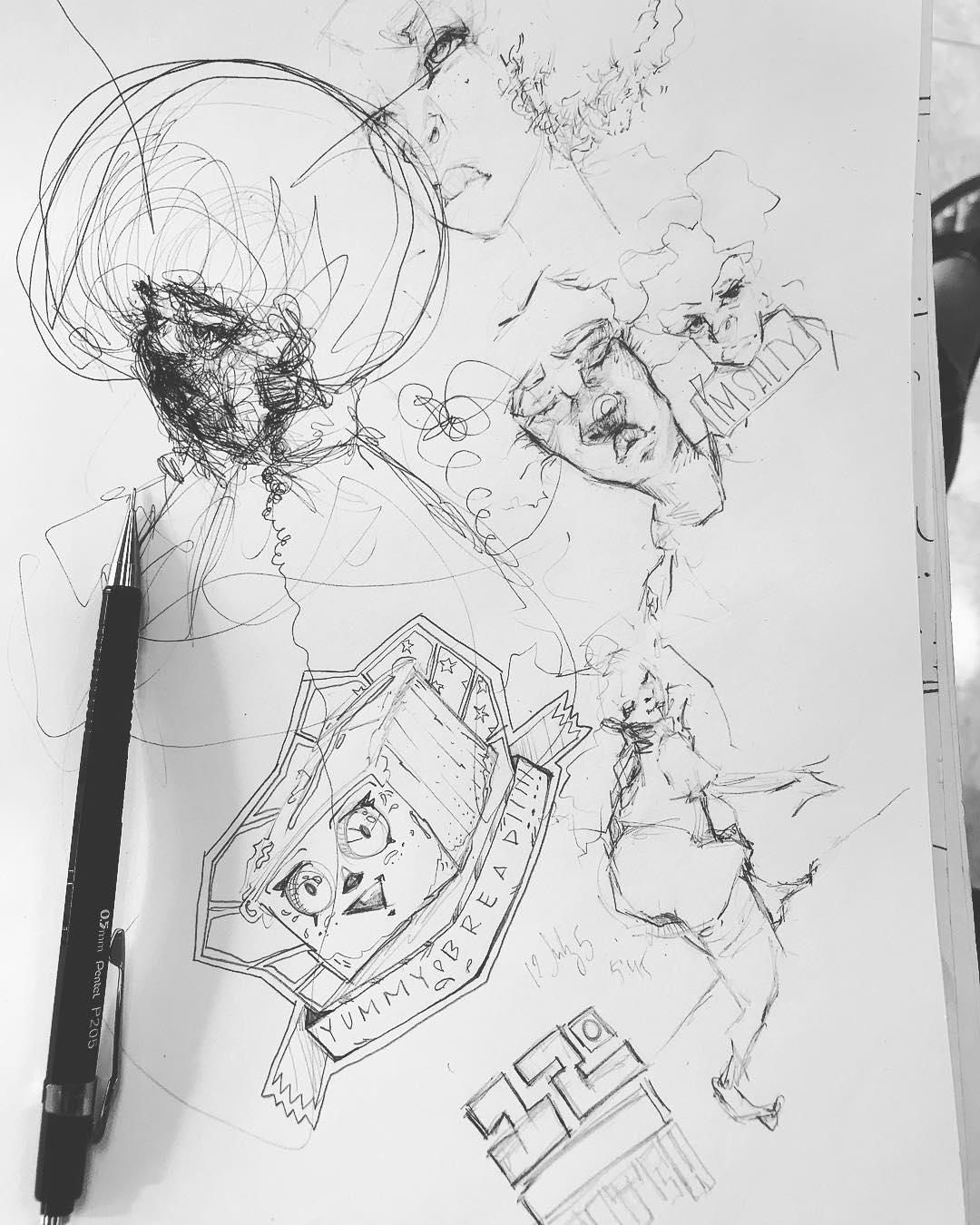[ Inside the Sketchbook 4 // 2018 // Ink Pen ]