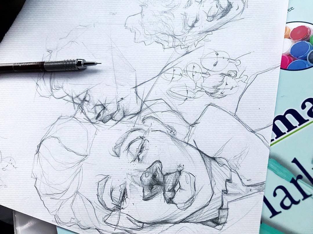 [ Inside the Sketchbook 5 // 2018 // Pencil ]