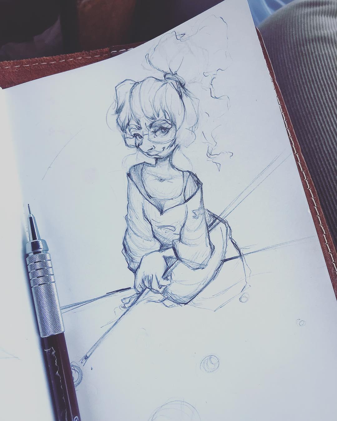 [ Pool Girl // 2018 // Pencil ]