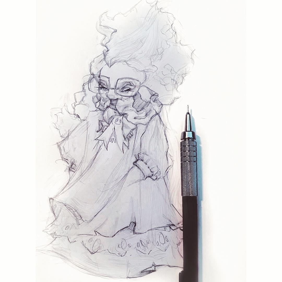 [ Scarf Face // 03/18 // Pencil ]