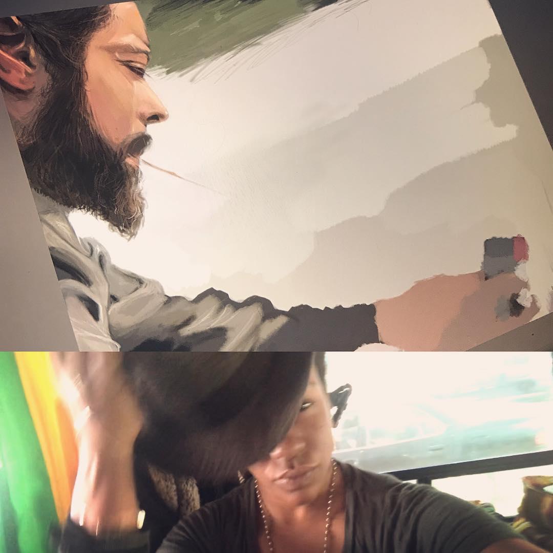 [ Sekou at the Lake // 2018 // MediBang Paint Pro ]