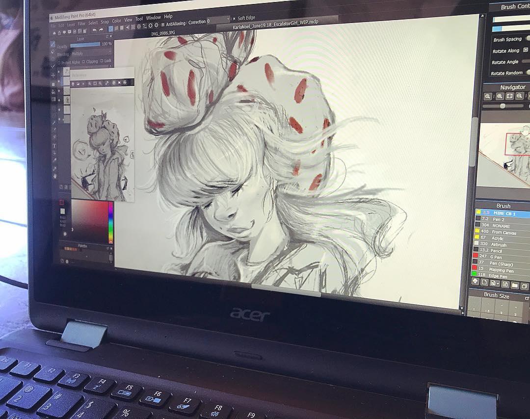 [ Shy Girl // 2018 // MediBang Paint Pro ]