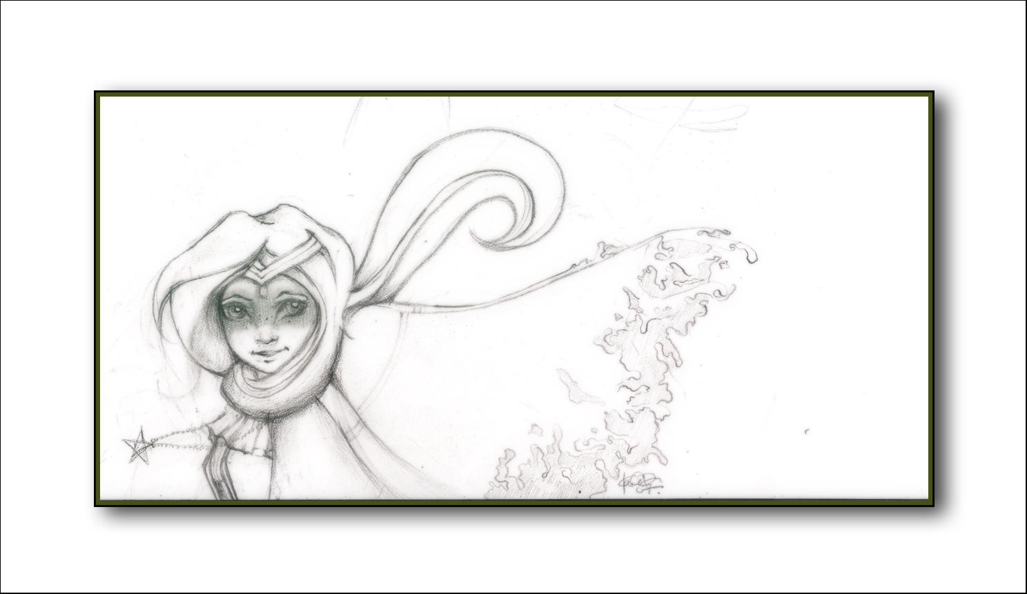 [ Princess Free // pencil sketch // 2007 ]